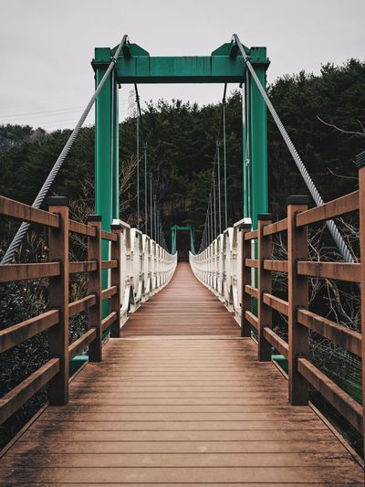Footbridge leading to bridge