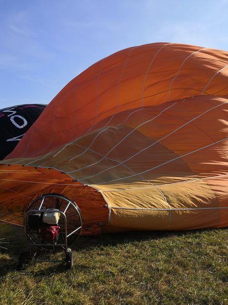 Hot Air Balloon Deuxsevres Balloon EyeEm Selects Red Sky Landscape