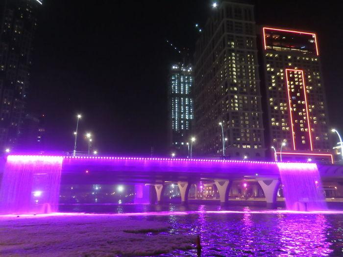 Business Bay Business Bay, Dubai Downtown Dubai Dubai Canal Dubai UAE Skyscraper Water Canal Waterfalls