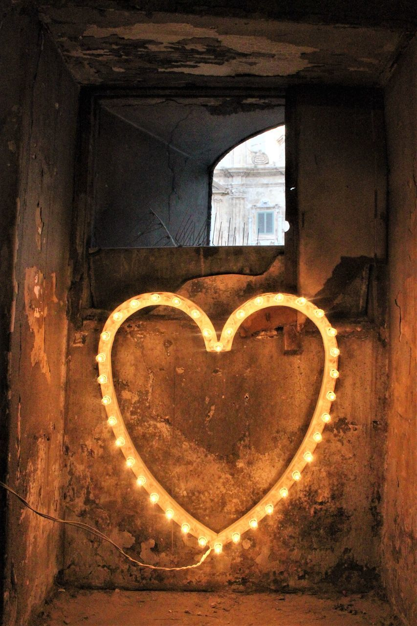 heart shape, love, positive emotion, emotion, no people, indoors, window, architecture, close-up, creativity, built structure, communication, arch, day, design, art and craft, nature, illuminated, valentine's day - holiday