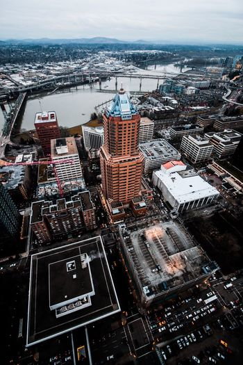 View from the tallest building in Portland Oregon (Wells Fargo Center) Portland Oregon Photography Urban Cityscape Aerial View Pdx Architecture Urban Skyline Travel Destinations Modern Building Exterior EyeEmNewHere The Architect - 2017 EyeEm Awards