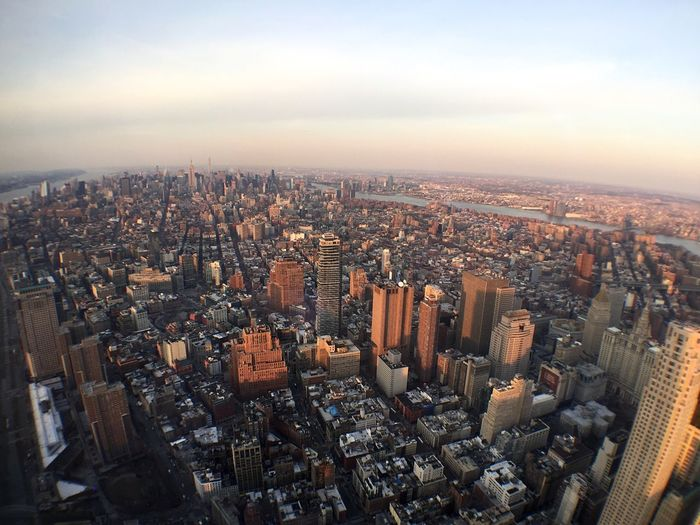 Manhattan from above Golden Hour Building Manhattan Cityscapes Urban City Wide Angle High Angle View Aerial Shot NYC Photography NYC
