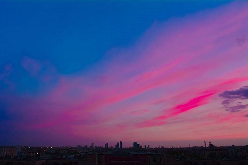 Pink Clouds above Milan 🌇 Milanobicocca