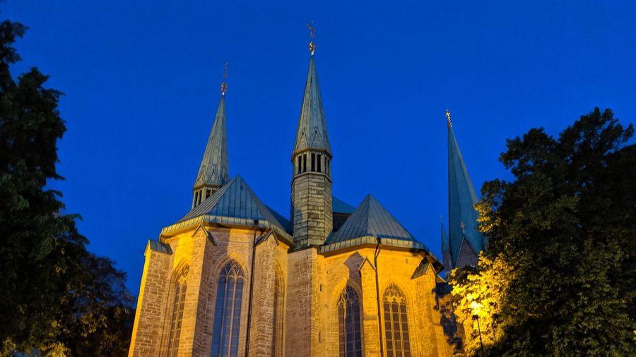 One church.