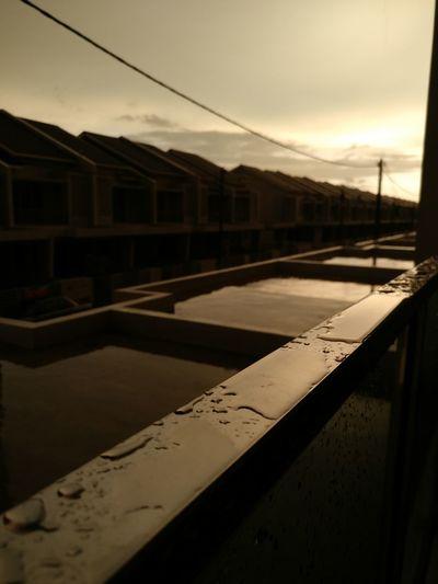 its raining day.. Sunset Nature Water Day