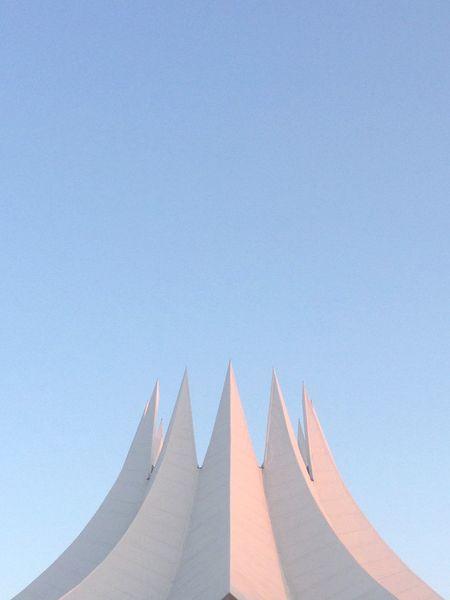 Clear Sky Architecture Sky Building Exterior No People Tempodrom Tempodrom Berlin Berlin Lightblue