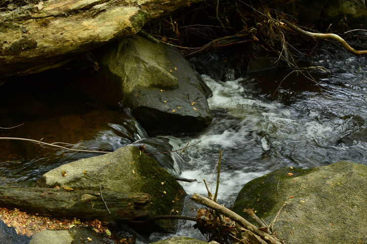 Water n River by Kesi J. Marcus Beauty In Nature Close-up Day Delaware High Angle View Leaf Motion Nature No People Outdoors Rock - Object Tranquility Water Waterfall Waterfront The Great Outdoors - 2018 EyeEm Awards