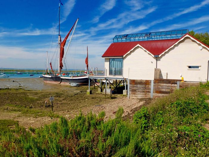 Sailing barge Sailing Vessel Sky Architecture Built Structure Water Building Exterior Land Nature Nautical Vessel