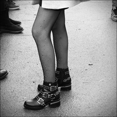 Streetphotography Blackandwhite Nikon Fotografia Myself Low Section Human Leg Shoe Human Body Part Standing Fashion One Person Only Women Lifestyles High Heels Real People Women People Close-up