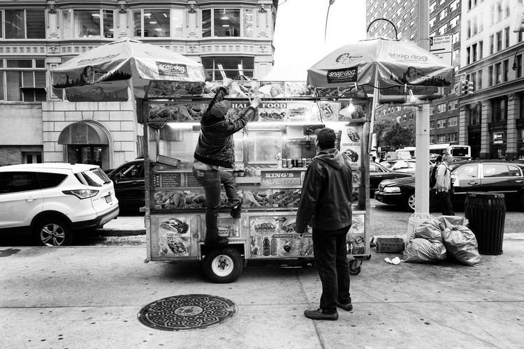 City City Life City Street Day Food Truck New York NYC Outdoors The Street Photographer - 2016 EyeEm Awards Monochrome Photography