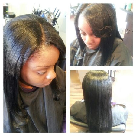 FULL NATURAL SEW-IN WITH REMY HAIR