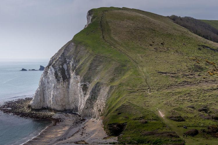 Sea cliff along