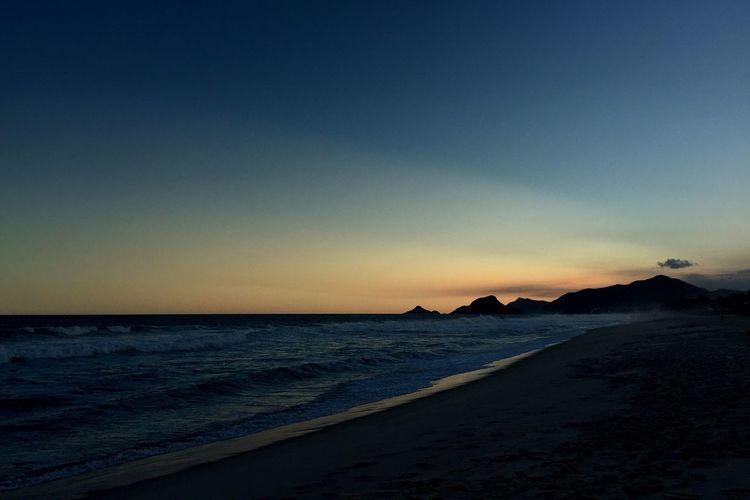 Sunset Praia Da Reserva Rio De Janeiro Beach IPhoneography Iphone 6