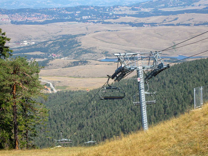 Ski lift on mountain Zlatibor in Serbia. Serbia Ski Lift Beauty In Nature Cable Car Day Environment Green Color Land Landscape Mode Of Transportation Mountain Nature No People Non-urban Scene Outdoors Scenics - Nature Tranquil Scene Tranquility Transportation Tree Zlatibor