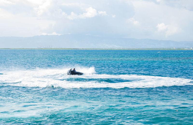 Jet Skiing. Fun Ocean View Extreme Sports Horizon Over Water Jet Boat Jetski Jetskiing Ocean Scenics Sea Sporting