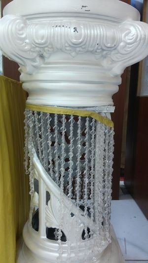 Indoors  No People Close-up Day Diamond Fall Diamond Curtain White Diamond String Diamond! Pillar Crystal Transparent