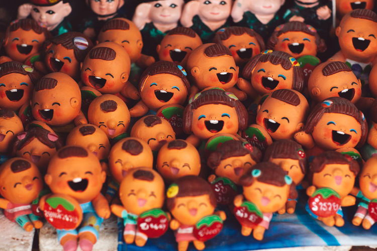 Representation Toy Human Representation Large Group Of Objects No People Abundance Still Life Art And Craft Full Frame For Sale Indoors  Creativity Backgrounds Arrangement Close-up Collection Choice Figurine  Order