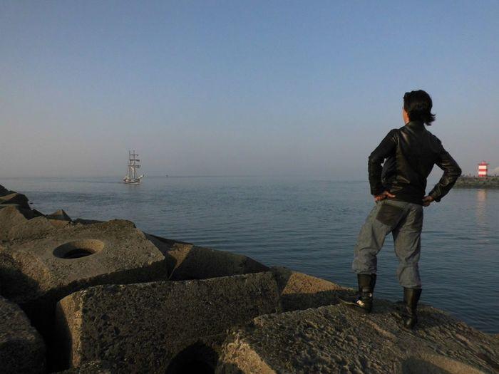 Water Sea Full Length Nautical Vessel Men Sky Shore Coast