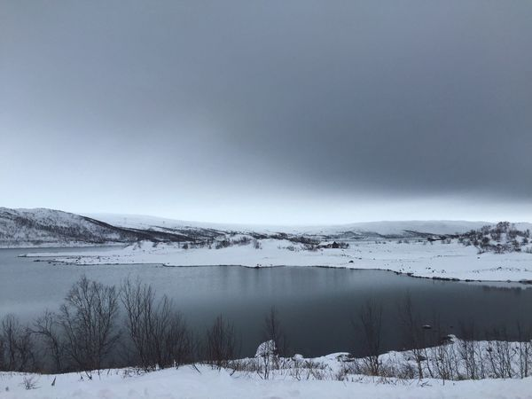 """A man falling into dark waters seeks a momentary footing even on sliding stones."" -George Eliot Bodies Of Water Dark Waters Lake Snow Covered Landscape Barren Landscape Winter Emptiness White Nature Pristine - Traveling in Norway"