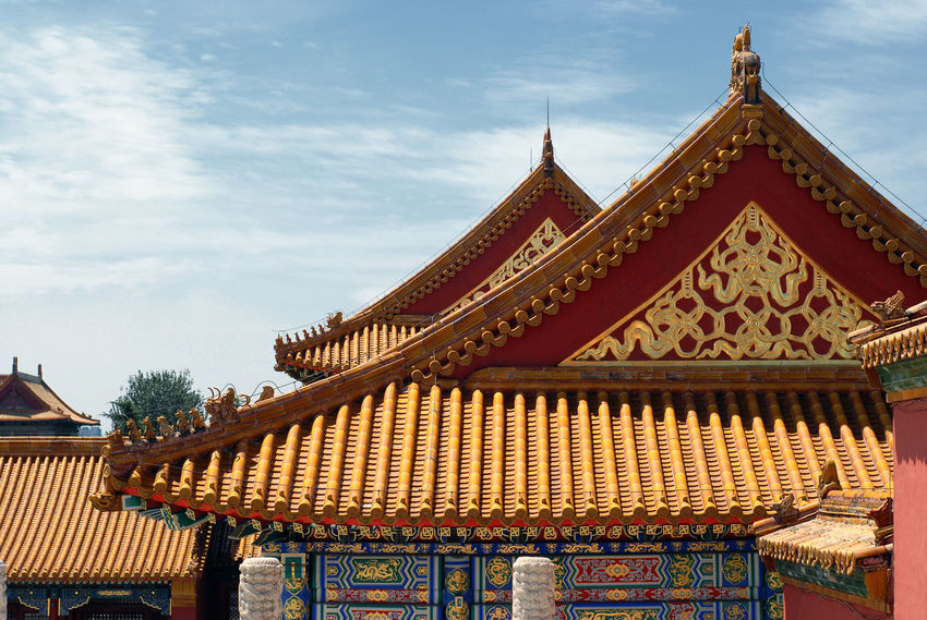 Architectural Feature Architecture Beijing Beijing, China Building Exterior Built Structure China Cloud - Sky Cultures Famous Place Low Angle View Ornate Pagoda Place Of Worship Religion Roof Sky Spirituality Temple Temple - Building Tradition Travel Destinations BEIJING北京CHINA中国BEAUTY