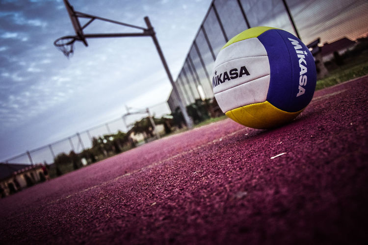 Sky Volleyball Ball No People Outdoors Photooftheday Poland Photography EyeEmNewHere Basket Stadium Sport Stadium Team Sport Close-up Playing Field Soccer Sports Track