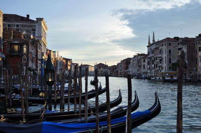 Boats Sea Sunset Venice, Italy Wather