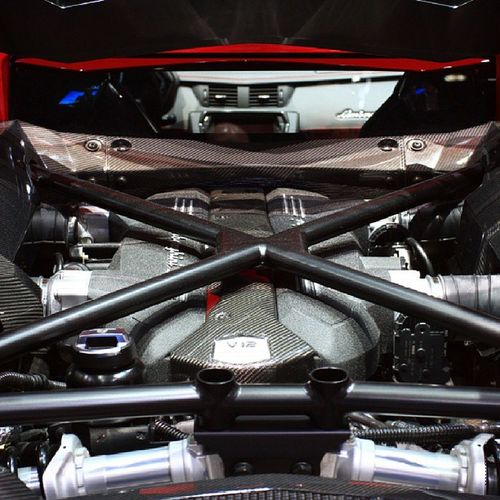 The Lamborghini Aventador undressed