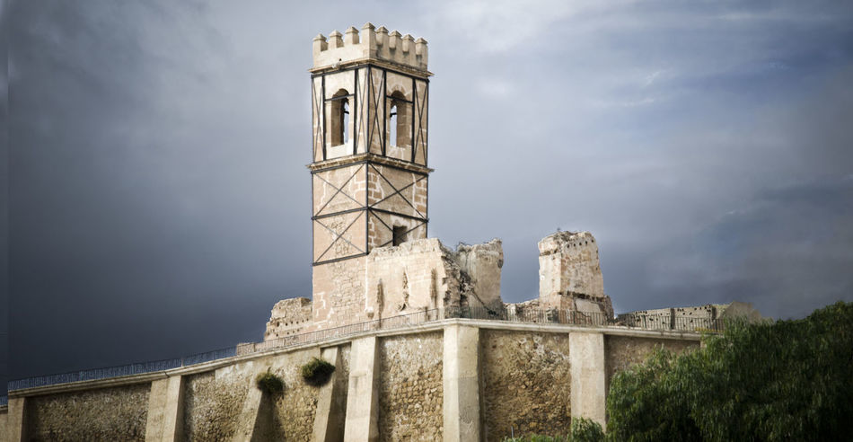 Architecture Building Exterior Built Structure Clock Tower Cloud - Sky Day Lorca Low Angle View Napatu No People Outdoors Place Of Worship San Pedro Sky Tower Travel Destinations