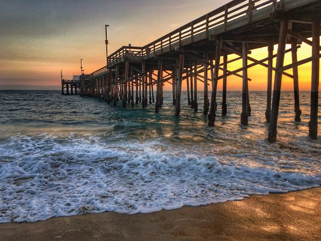 """""""Standing in your dream and I don't want to leave..."""" Life Is A Beach Eye4photography  Ocean Beach Silhouette Sunset And Clouds  Ocean Dream EyeEm Best Shots - Sunsets + Sunrise EyeEm Best Shots OnthePier Sunset_collection Sunset"""