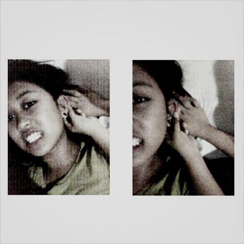 When boredom. new pierce ;) That's Me Hello World Enjoying Life Filipina