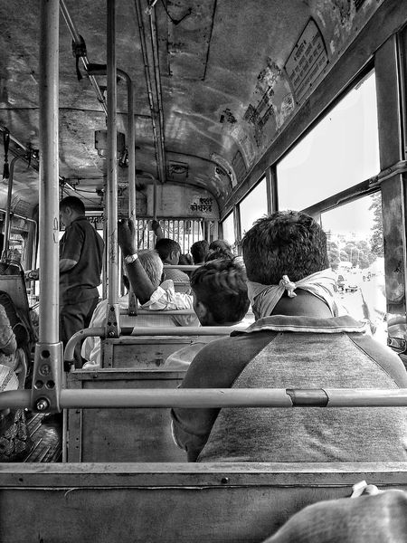 Transportation Large Group Of People Public Transportation Lifestyles PeopleIndoors  Sitting Day EyeEmNewHere The Week On EyeEm EyeEm Selects Buslife Black And White Friday