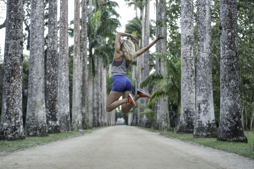 NotYourCliche Be. Ready. Botanical Gardens Happy Tree Jumping Mid-air Outdoors Women EyeEm Ready   Love Yourself