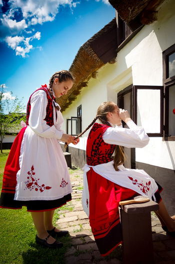 Country Country Life Countrylife Folk Folk Hair Folk Village FolkDanceOfHungary FolkDancer Folklore Hungarian Hungarian Tradition Hungarian Traditional House Hungarian Traditions Hungary Lifestyles Outdoors Real People Traditional Traditional Costume Traditional Costumes Young Women