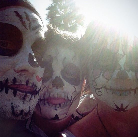 Family Fun Dia De Los Muertos Painted Faces Skull Skulls Sugarskull Check This Out Hello World Family Time Taking Photos Eye4photography  From My Point Of View Showcase March