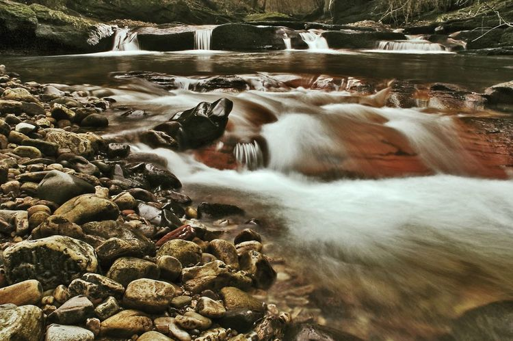 Flowing through the woods Rocks Rocks And Water River Gelt Woods Gelt Woods Landscapes Outdoor Woods Brampton Water Motion Long Exposure Flowing Water Waterfall Nature Outdoors No People Beauty In Nature EyeEmNewHere