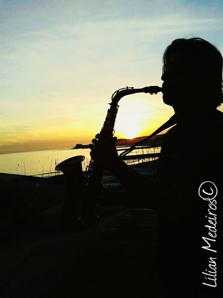 Men Adults Only Saxophone Adult Sunset City People Vacations Beach Beauty In Nature Viagem Vacations Nature Reflexão  City Cities Espanha España Jazz Music Musician Performance Arts Culture And Entertainment Musical Instrument Music One Person