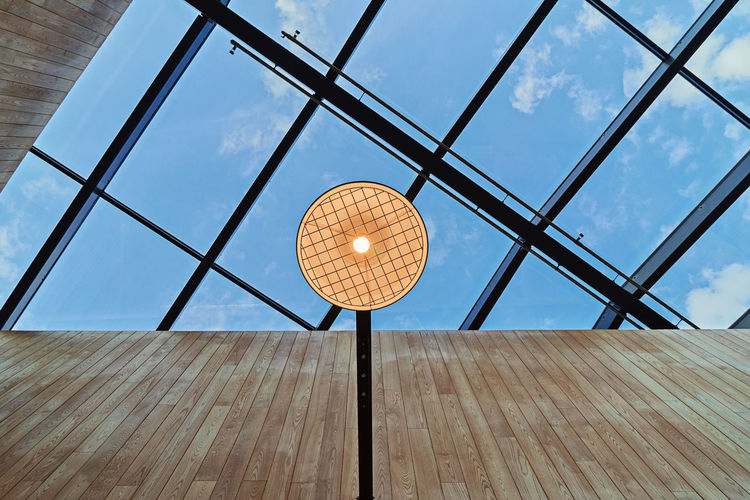 Abstract modern building structure of roof