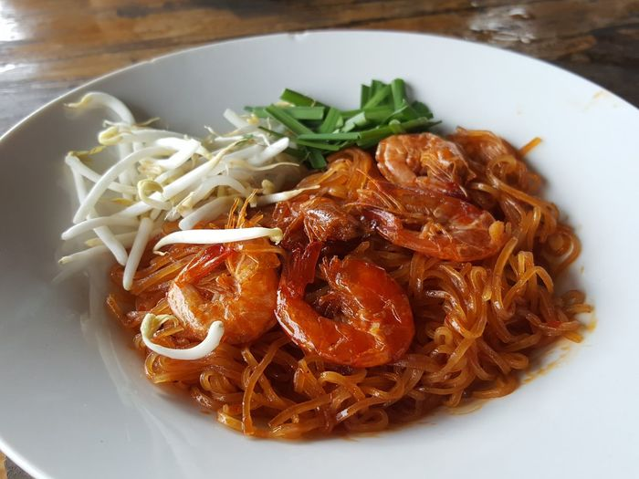 Red noodle hot & spicy with prawn Food EyeEm Selects Food And Drink Healthy Eating Indoors  Ready-to-eat Day Fried Noodles Fried Noodle Thai Style With Prawn Kwetiaw Food And Drink