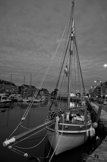Le Pouliguen Pouliguen Architecture B&w Boat Building Exterior City Day Harbor Mast Mode Of Transport Moored N&b Nature Nautical Vessel No People Outdoors Sailboat Sky Transportation Water