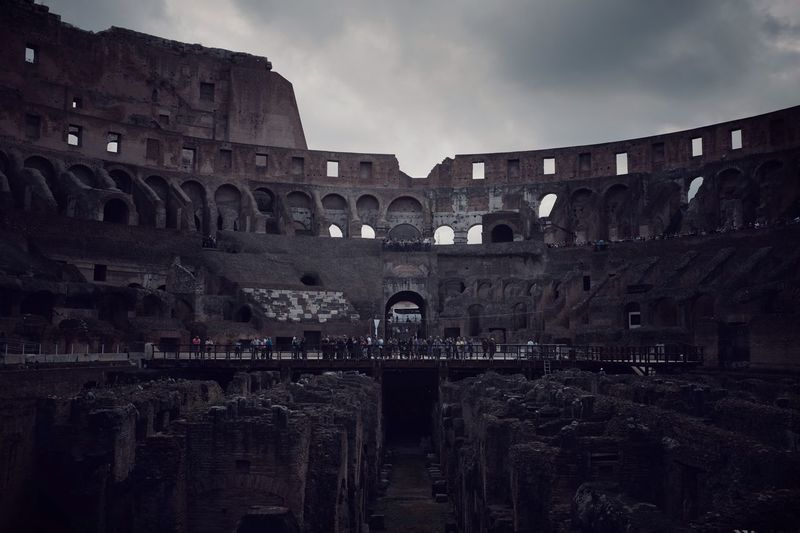 Colosseum History Roman Lifestyles EyeEm Best Shots Moody Architecture Built Structure Sky History The Past Building Exterior Cloud - Sky Arch Travel Destinations Tourism No People