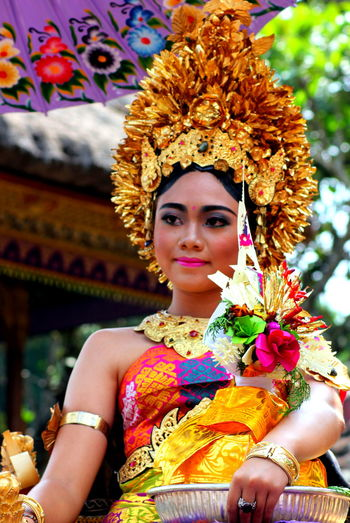 Portrait of one of the princesses of Ubud's royal family. Balinese Balinese Culture Balinese Tradition Balinese Woman Close-up Outdoors Portrait Smiling The Portraitist - 2016 EyeEm Awards Ubud, Bali