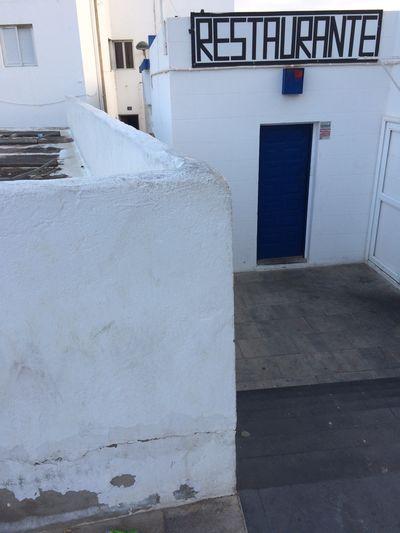 Fuerteventura Built Structure Restaurante Geometric Shape White White Houses Architecture Blue Door