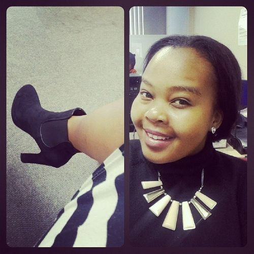 Autumn's finally here Winterbaby RainyDays Selfie Officevibes blacknwhite boots babymakingweather
