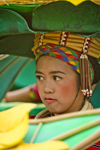 Aliwan Festival Candid Colorful Contestant Costume Dance Dance Competition Dance Costume Dancer Day Festival Girl Green Head Gear Headwear Makeup People Performance Philippines Portrait Real People Tradition Traditional Clothing My EyeEm Gallery My Eyeem Photo