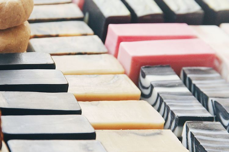 Close-up of stack of piano