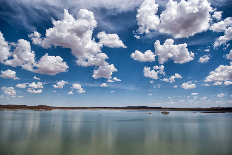 Cloud Reflections Namibia Reflection Beauty In Nature Blue Cloud - Sky Cloud Reflection On Water Dam Day Horizon Idyllic Lake Lake View Lakes  Nature No People Non-urban Scene Outdoors Reflection Reflection In Water Scenics - Nature Sky Tranquil Scene Tranquility Water Waterfront