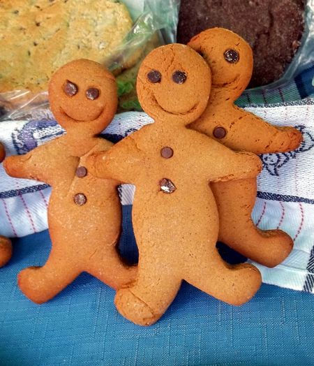 Baking Chocolate Close-up Cookie Cookies Day Dessert Food Food And Drink Freshness Gingerbread Men High Angle View Indoors  Market No People Sweet Food