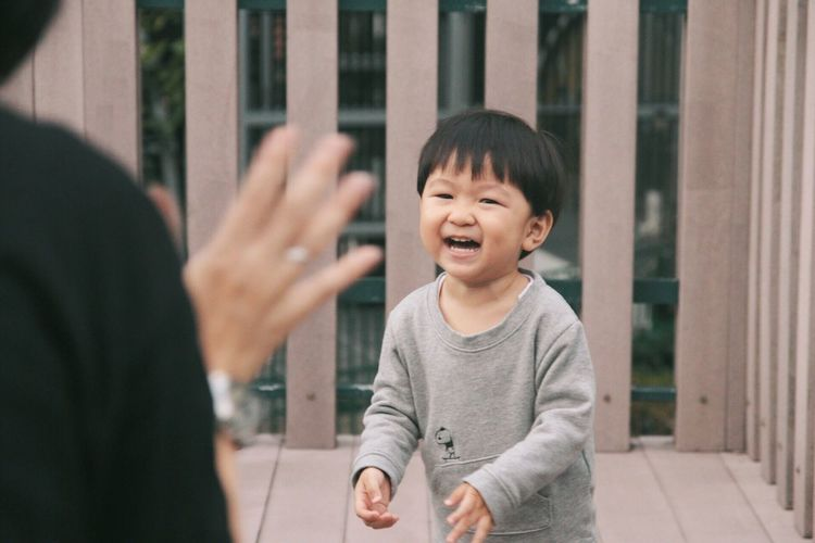 Son Two People Real People Childhood Bonding Outdoors Smiling Playing Laughing Laughter Child Children Children Photography Children's Portraits Fun Happiness