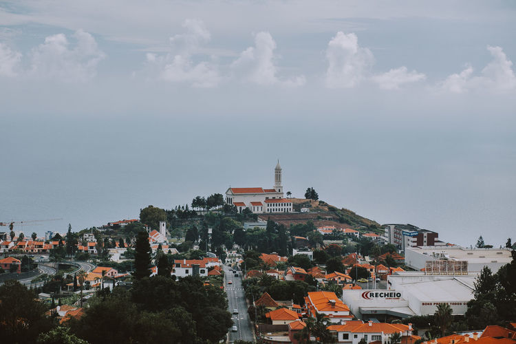 Building Exterior Cloud - Sky High Angle View Place Of Worship Religion TOWNSCAPE Built Structure Madeira Madeira Island Portugal Skyline Roadtrip Travel Destinations