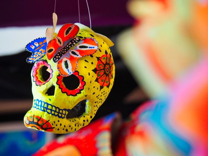 Mexican Traditions Representation Creativity Human Representation No People Focus On Foreground Celebration Close-up Folklore Mexicano Mexican Culture Mexican Traditions Day Of The Dead Esqueleto Dia De Los Muertos Calaveras Calacas Colourful Remembering The Dead In Memory Of Celebration Event